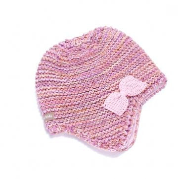Peppercorn Kids Bow Beanie in Pink