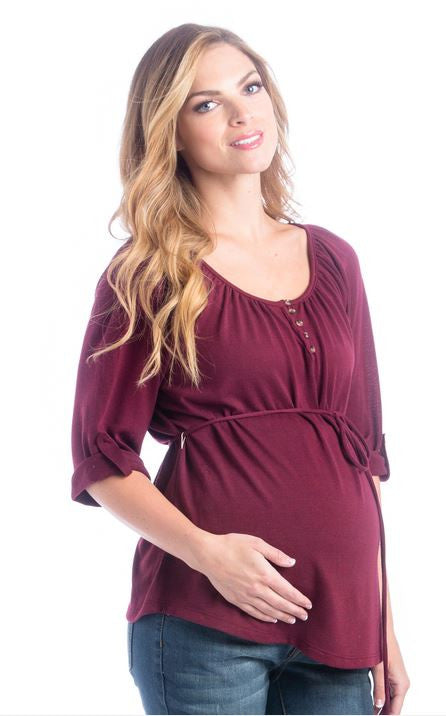 Lilac Clothing Emmy Top in Marsala