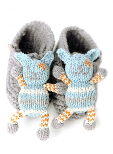 Finn + Emma Leo the Dog Rattle Booties