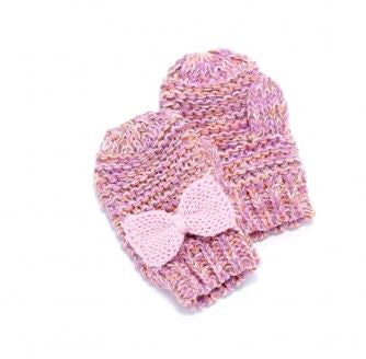 Peppercorn Kids Bow Mittens in Pink