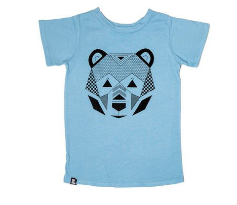 Mini & Maximus Geo Bear Crew Tee