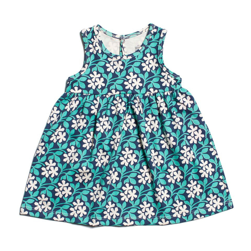 Winter Water Factory Oslo Baby Dress in Wildflower Meadow Navy
