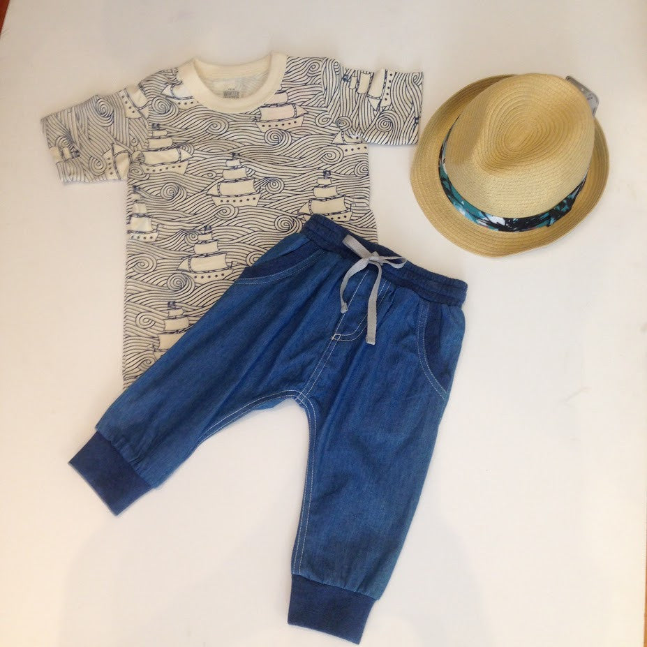 Paper Wings Chambray Trackies