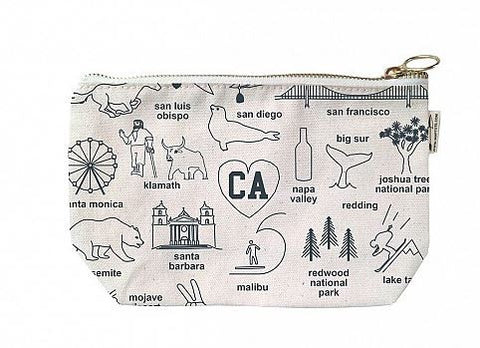 Maptote California Zip Pouch, Assorted Colors
