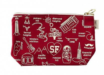 Maptote San Francisco Zip Pouch, Assorted Colors