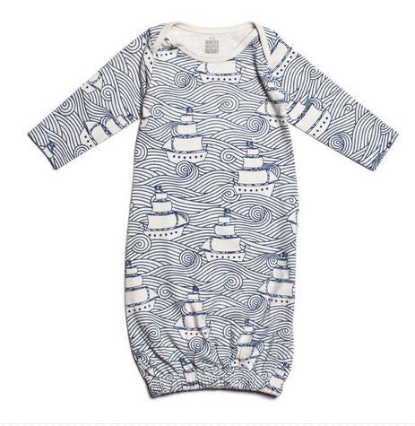 Winter Water Factory Baby Gown in High Seas Navy
