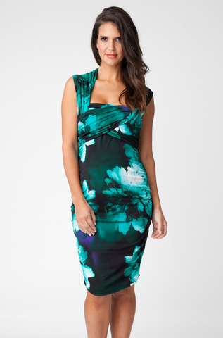 Ripe Maternity Harper Floral Dress in Emerald