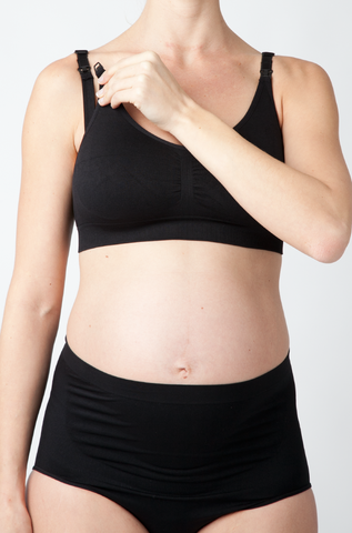 Ripe Maternity Seamless Nursing Bra in Black
