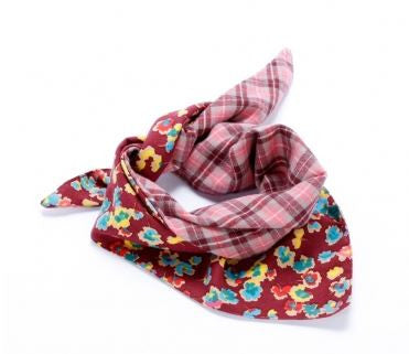 Peppercorn Kids Reversible Triangle Bandana Scarf in Cherry