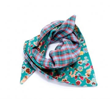 Peppercorn Kids Reversible Triangle Bandana Scarf in Teal