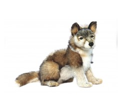 Hansa Toys Wolf Cub, Seated