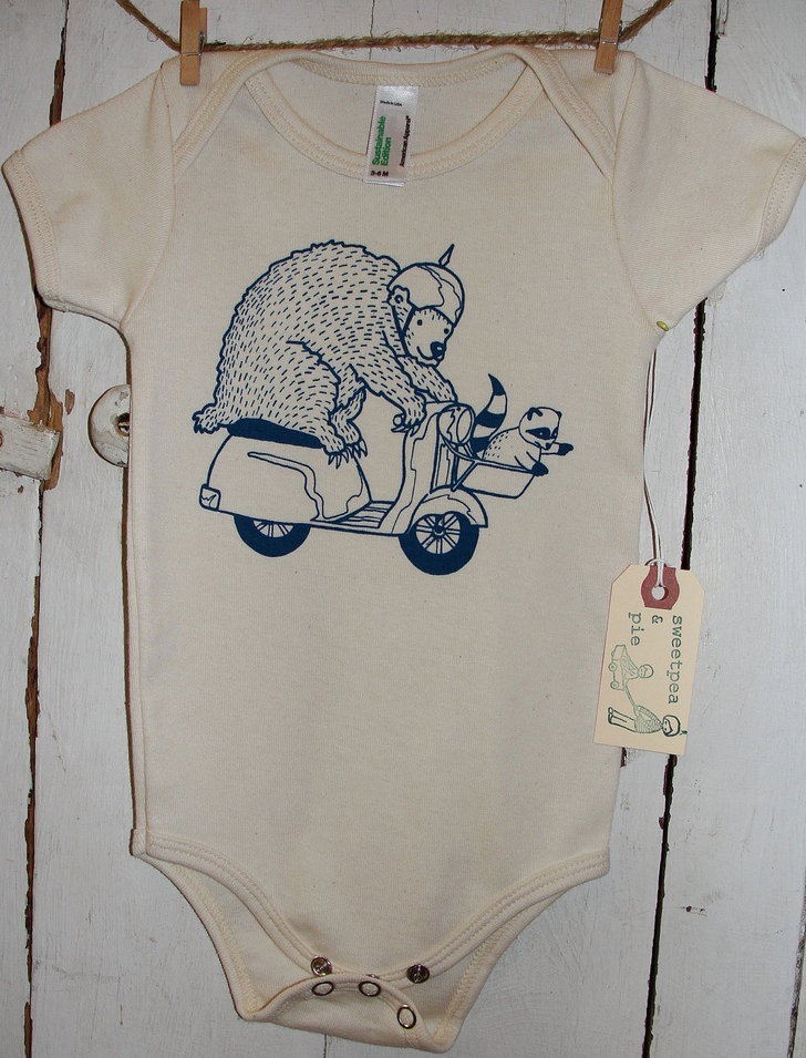 SweetPea & Pie Wild Ride Onesie in Natural