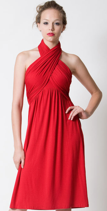 Dote Sienna Halter Dress in Red