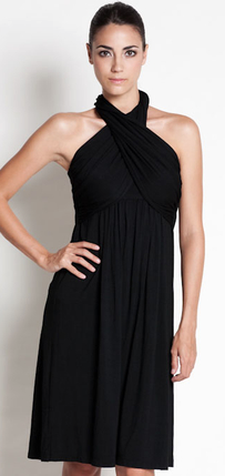 Dote Sienna Halter Dress in Black