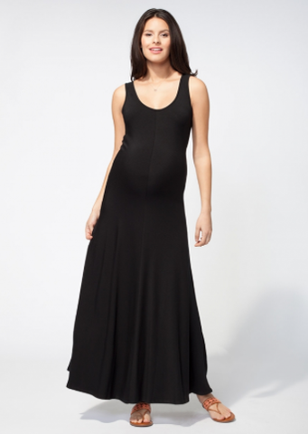Ingrid & Isabel Tank Maxi Dress in Black