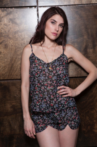 Cameo Black Rose Cami