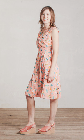 Field Day Pink Feather Sheet Dress