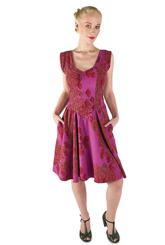 Field Day Purple Poppy Dress
