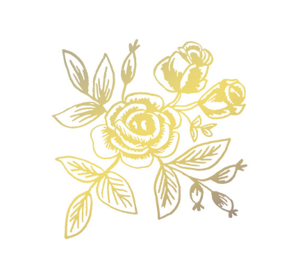 Tattly Gold Floral Tattoos