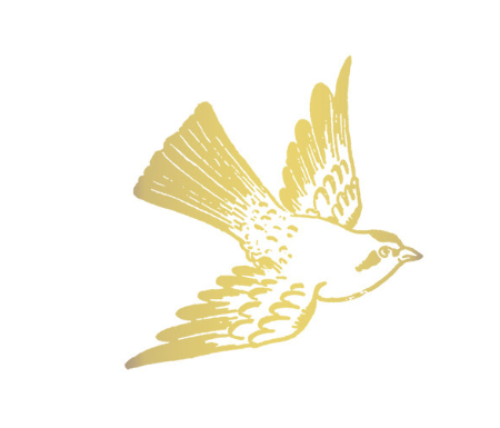 Tattly Gold Carolina Bird Tattoo