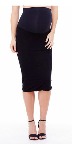 Ingrid & Isabel Midi Skirt in Jet Black