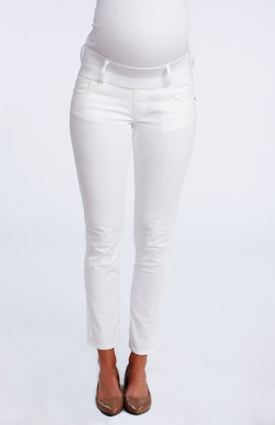 Maternal America Skinny Ankle Jeans in White