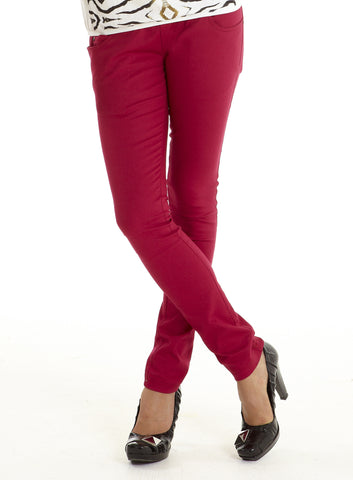 Mothers En Vogue Sexy Skinny Underbelly Jeans in Cherry Red