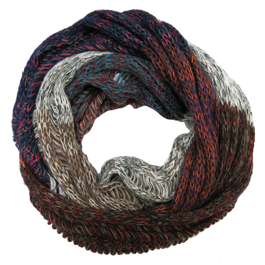 Subtle Luxury Multicolor Patch Infinity Scarf