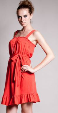Dote Hailey Dress in Tangerine