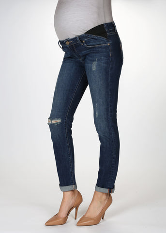 Paige Denim Jimmy Jimmy Skinny Maternity Jeans in Tawni Destruction