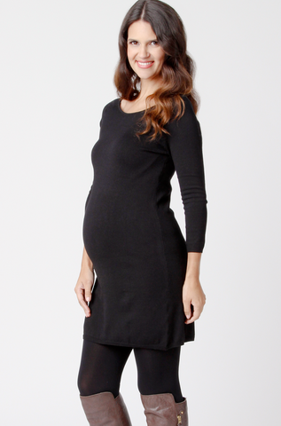 Ripe Maternity Victoria Tunic in Black