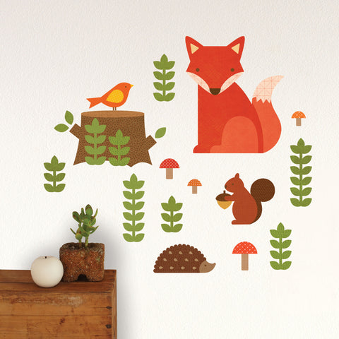 Petit Collage Woodland Fabric Wall Decal