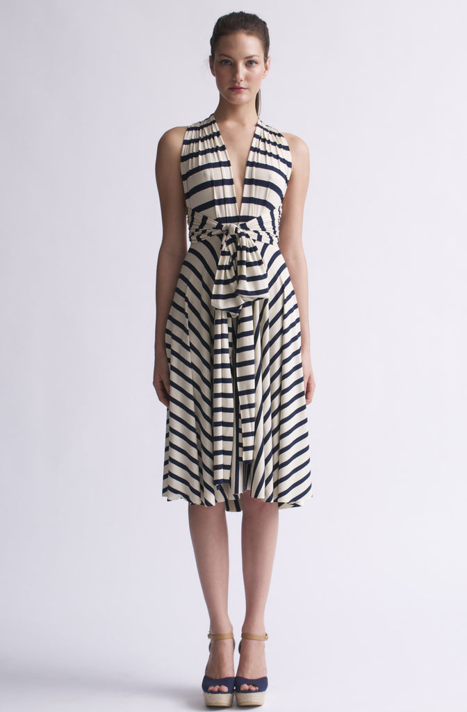 Butter by Nadia Tarr Wrap Dress in Little French Stripe