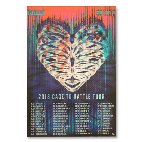 Cage To Rattle 2018 Tour Poster