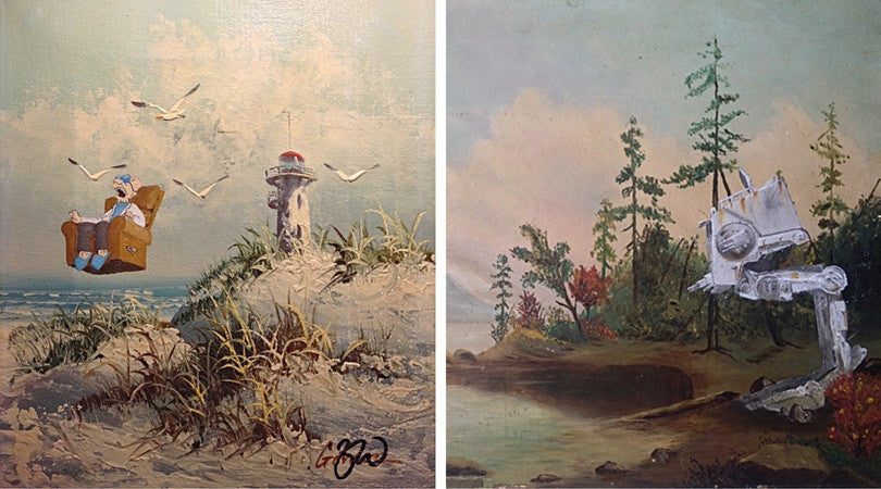 8 Amazing Thrift Store Re-Paintings