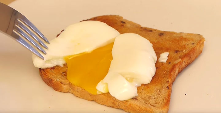 Poached Egg Cut Open