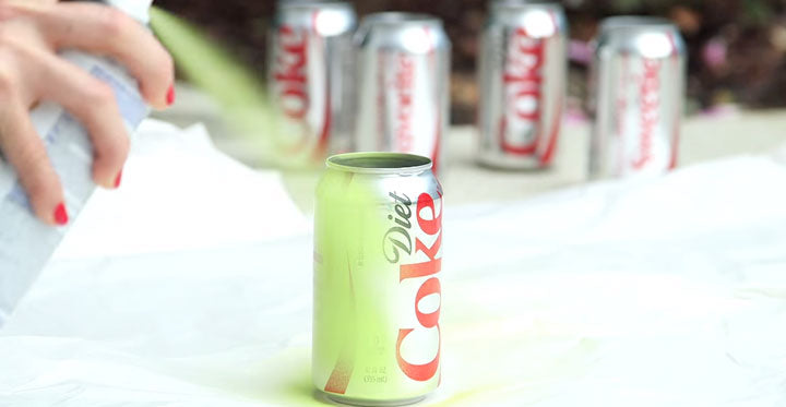 Spray Paint Coke Cans