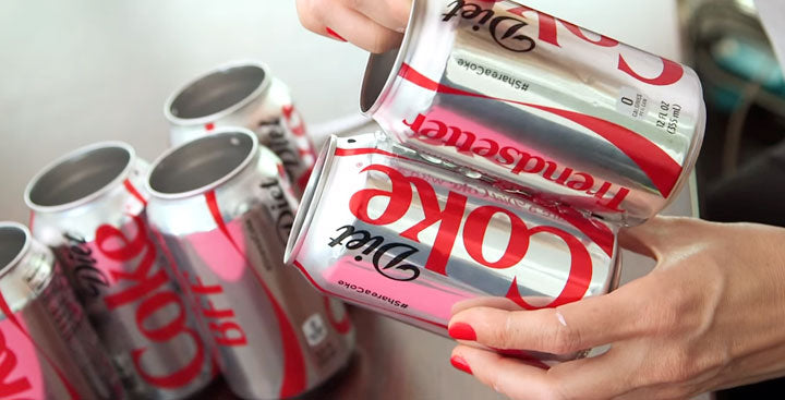Glue Coke Cans