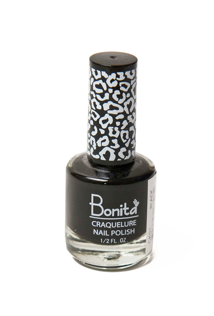 Bonita Crack Nail Polish Black