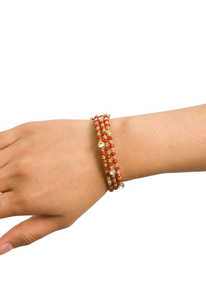 Foundation Bead Bracelet Red