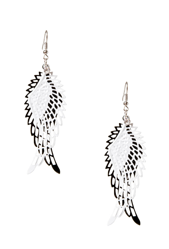 Laser Etched Earrings Wing