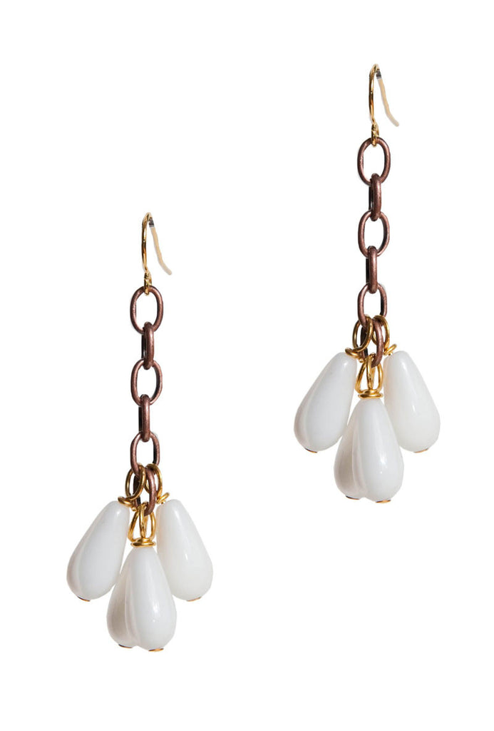 White Dew Bauble Earrings