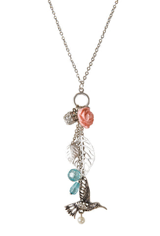 Humming Bird Charm Necklace