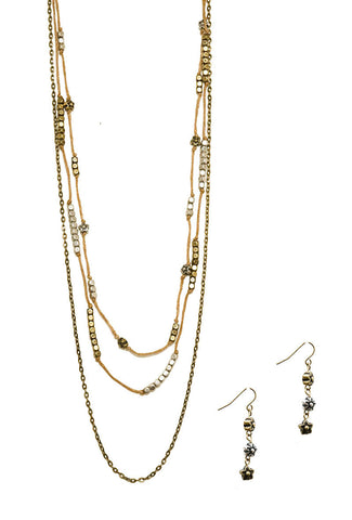 Floral Explorer Necklace and Earring Set