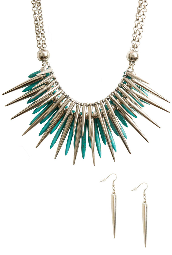 Tough Love Earring and Fringe Necklace Set