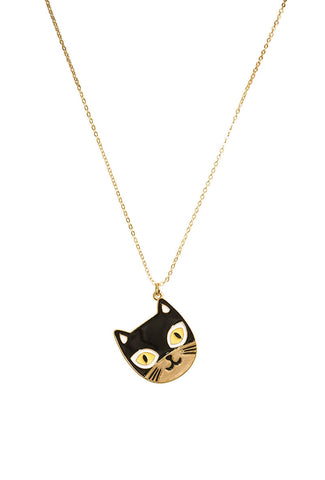 Cats Meow Charm Necklace