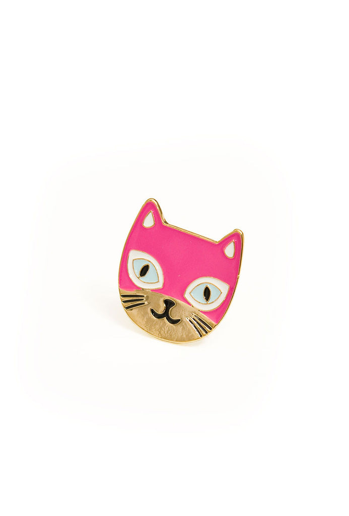 Cats Meow Adjustable Ring Pink