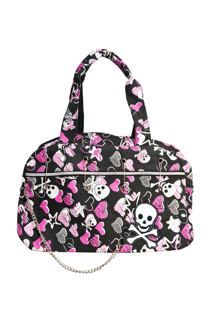 Skull and Bones Tote Black