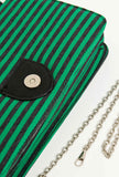 Bad Case of Stripes Bag Green Button