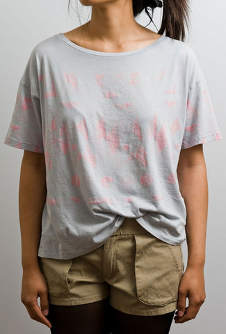 Pink Geometric Print T-Shirt by WeSC